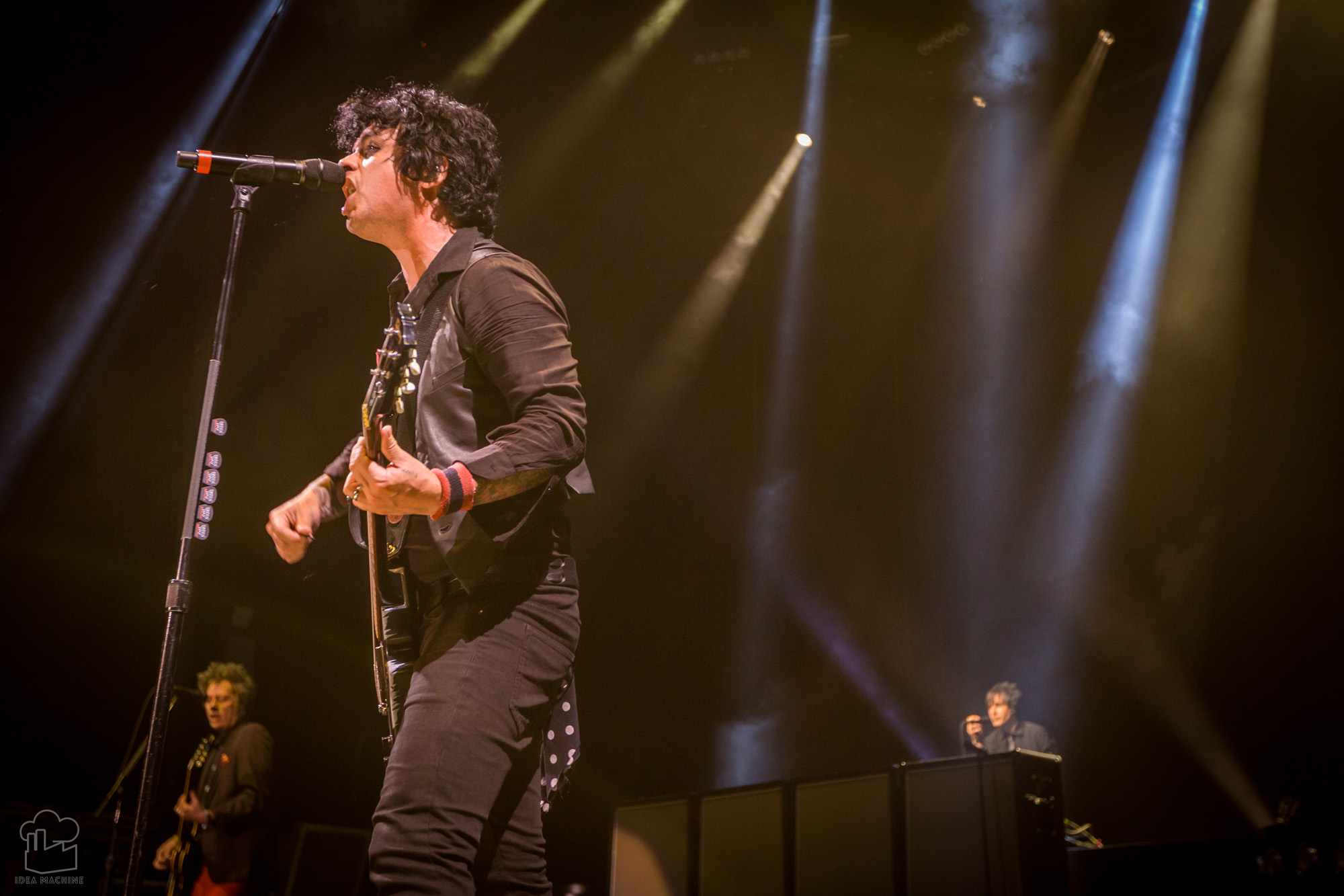 Billie Joe Armstrong of Green Day plays in St. Louis during the Revolution Radio Tour on Monday, August 14, 2017.