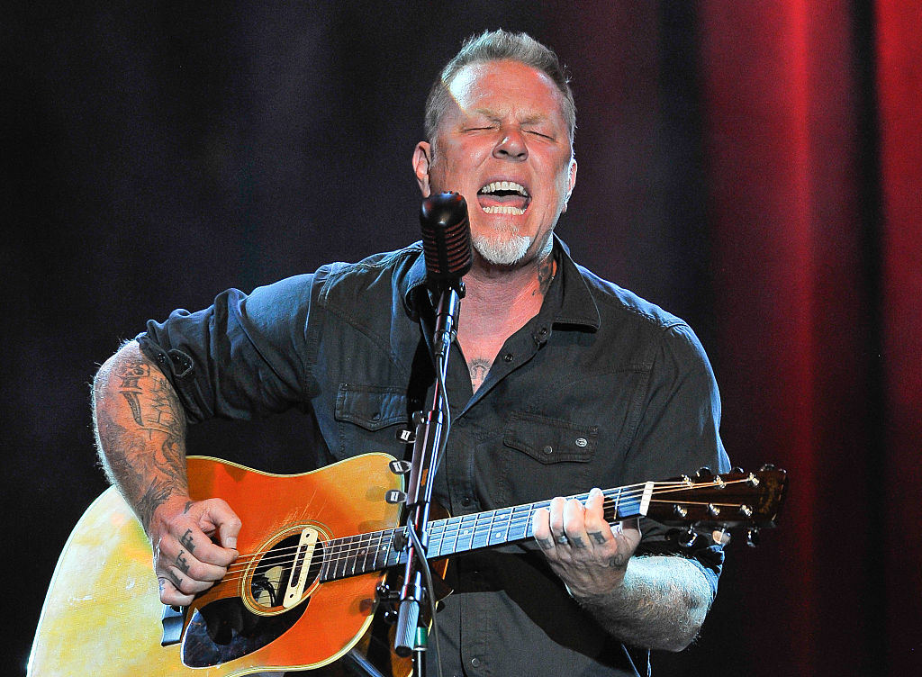 James Hetfield of Metallica performs at the 3rd Annual Acoustic-4-A-Cure concert, a Benefit for the Pediatric Cancer Program at UCSF Benioff Children's Hospital at The Fillmore on May 15, 2016 in San Francisco, California.