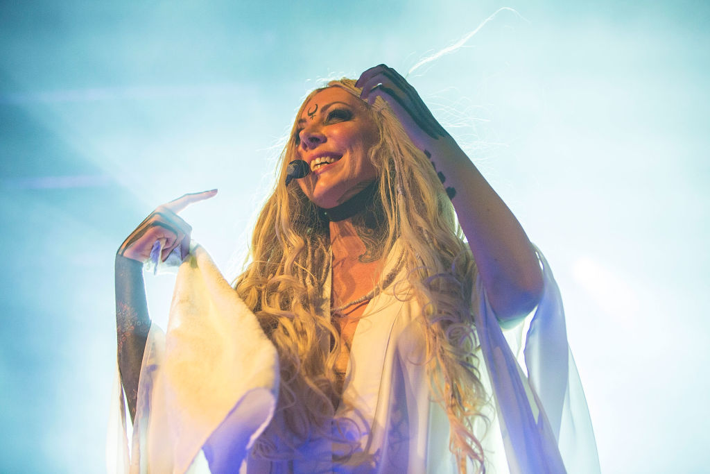 Musician Maria Brink of In This Moment performs on stage at Harrah's Resort Southern California on August 24, 2018 in Valley Center, California.  (Photo by Daniel Knighton/Getty Images)